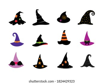 beautiful halloween witch hat graphic design vector