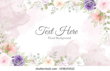 Beautiful hand drawn floral background design