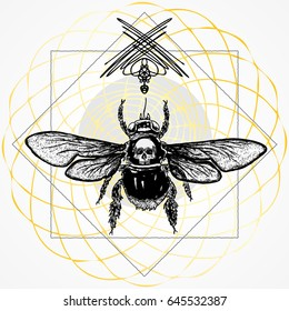 Bee Tattoo Images Stock Photos Vectors Shutterstock