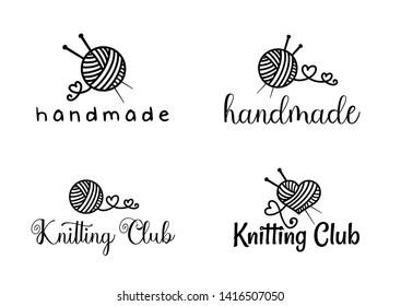 Beautiful Handamade logo set vector