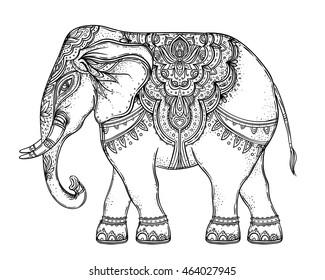 beautiful handdrawn tribal style elephant 260nw