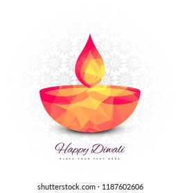 Beautiful Happy Diwali festival background vector