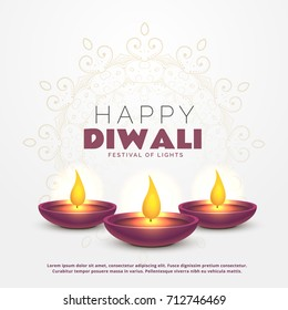 Diwali greetings images stock photos vectors shutterstock beautiful happy diwali greeting with burning diya for festival of lights m4hsunfo