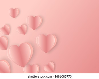 Beautiful Heart pink valentine card