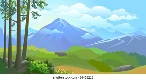 Beautiful Himalayan snow peaks and glaciers