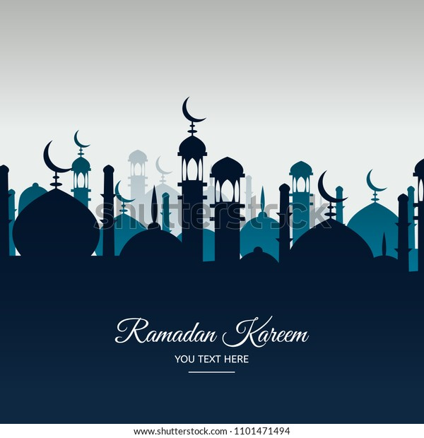 Beautiful Holy Festival Eid Ramadan Background Stock Vector (Royalty