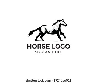Beautiful horse logo. animal silhouette logo