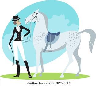 Beautiful horsewoman