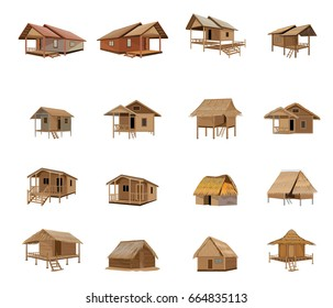beautiful hut vector design 260nw 664835113 - View Simple Small House Design Bamboo PNG