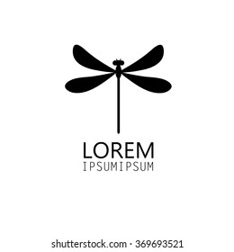 Beautiful icon dragonfly vector illustration on white background