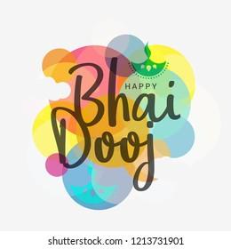 Beautiful illustration for indian festival of happy bhai dooj celebration.
