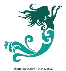 beautiful illustration of a mermaid design with a modern feel