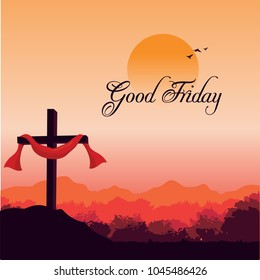 BEAUTIFUL IMAGE  OF GOOD FRIDAY WITH HOLY CROSS