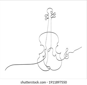 Beautiful Image vector One Line Stroke
