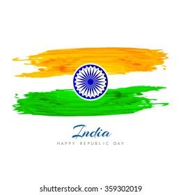 Beautiful Indian flag background design