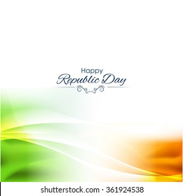 Beautiful Indian flag color themed illustration for republic day india, illustration for 26 january.