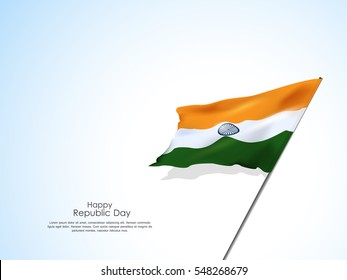 Beautiful Indian flag for republic day india,