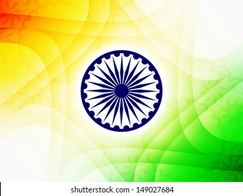Beautiful Indian flag theme background design for Indian independence day. vector illustration