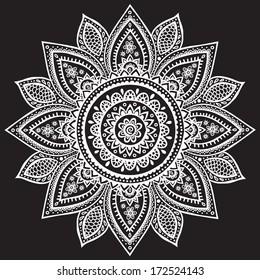 Beautiful Indian henna ornament