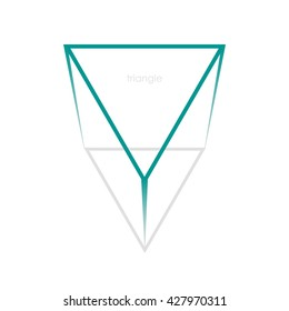 Beautiful inverted triangle. Vector element. Beautiful sign for your design.