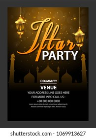 A beautiful invitation card & flyer for iftar dinner celebration & Party.