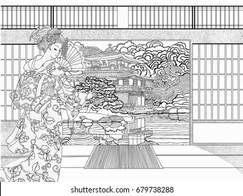 beautiful japanese coloring adults pages 260nw