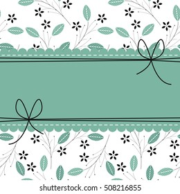 Beautiful lace frame with stylish floral background can be used for wedding invitations, anniversary cards, covers and more creative designs.