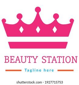 Beautiful Ladies Cosmetic Shop Logo DesignVector Template