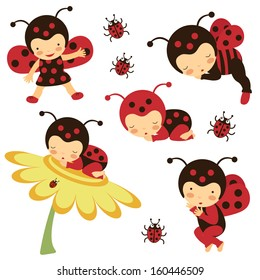 Beautiful ladybug babies collection