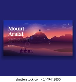 Beautiful Landscape of Mount Arafat Illustration UI Landing Page