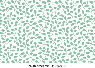 Beautiful Leaf Pattern. Seamless.