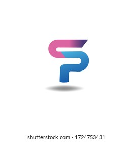beautiful letter logo S with P design template
