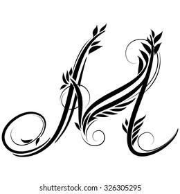 Beautiful Letters Monogram Decoration Graphic Symbol Stock Vector