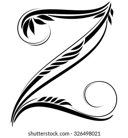Z Text Tattoo Design Hd Stock Images Shutterstock The site owner hides the web page description. https www shutterstock com image vector beautiful letters monogram decoration graphic symbol 326498021