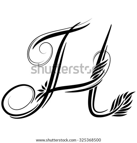 Beautiful Letters Monogram Decoration Graphic Symbol Stock Vector