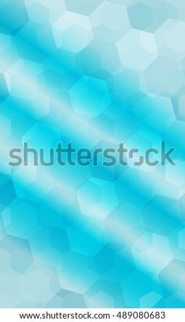 Beautiful Light Blue Color Geometry Background Stock Vector Royalty