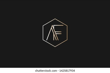beautiful logo of af letters with clean lines