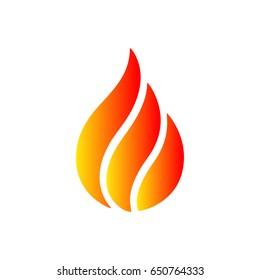 Beautiful logo fire. Vector illustration for design - for stock