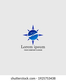 beautiful logo in a nautical style for tourism and travel