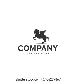 beautiful logo silhouette from a horse