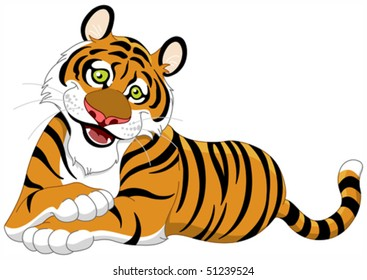 tiger cartoon images stock photos vectors shutterstock rh shutterstock com