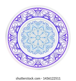 Beautiful Mandala. Floral Round Ornament. Vector Illustration. For Modern Interiors Design, Wallpaper, Textile Industry.