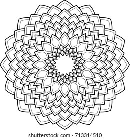 Beautiful mandala pattern. Creative ornament. Repeating art for background. Can be used as a coloring book for children and adults to enjoy their hobby. Also can be used as a tattoo design.