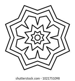 Beautiful mandala shape for drawing