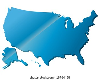Beautiful map of North America
