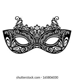Beautiful Masquerade Mask (Vector), Patterned design
