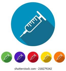 Beautiful Medical Syringe web icon