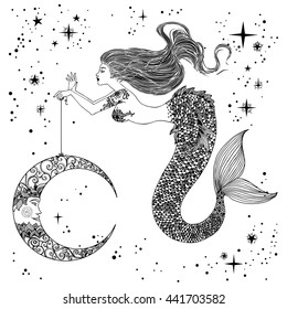 Vintage Mermaid Images, Stock Photos & Vectors   Shutterstock