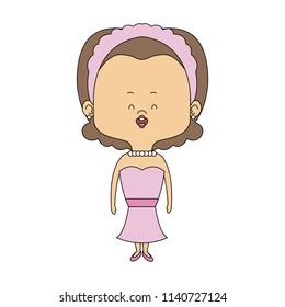 Beautiful midget woman cartoon
