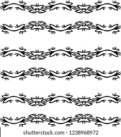 Beautiful modern border frame decorative graphic vector pattern shape design in victorian style for many creative ideas